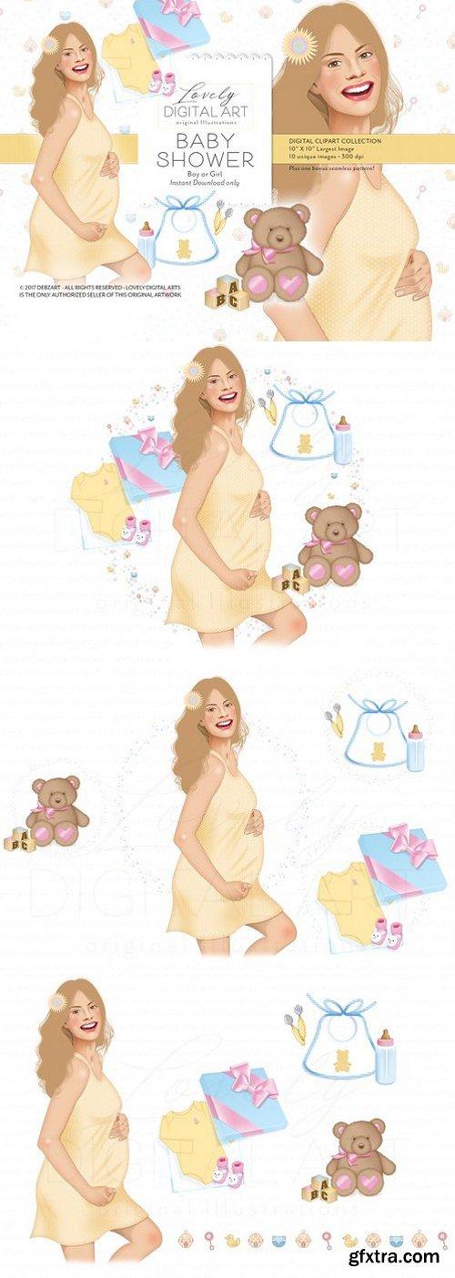 Baby Shower Digital Clip Art