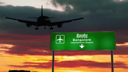 Videohive - Plane landing in Bangalore India airport - 33720033 - 33720033