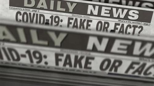 Videohive - Covid-19 pandemic news fake or fact newspaper printing press - 33721502 - 33721502