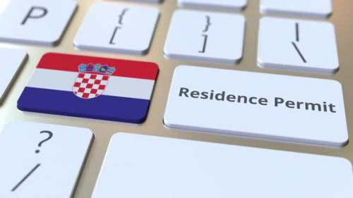 Videohive - Residence Permit Text and Flag of Croatia on the Buttons - 33721508 - 33721508