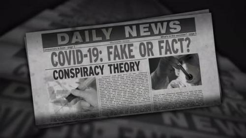 Videohive - Covid-19 pandemic news fake or fact retro newspaper printing press - 33721546 - 33721546