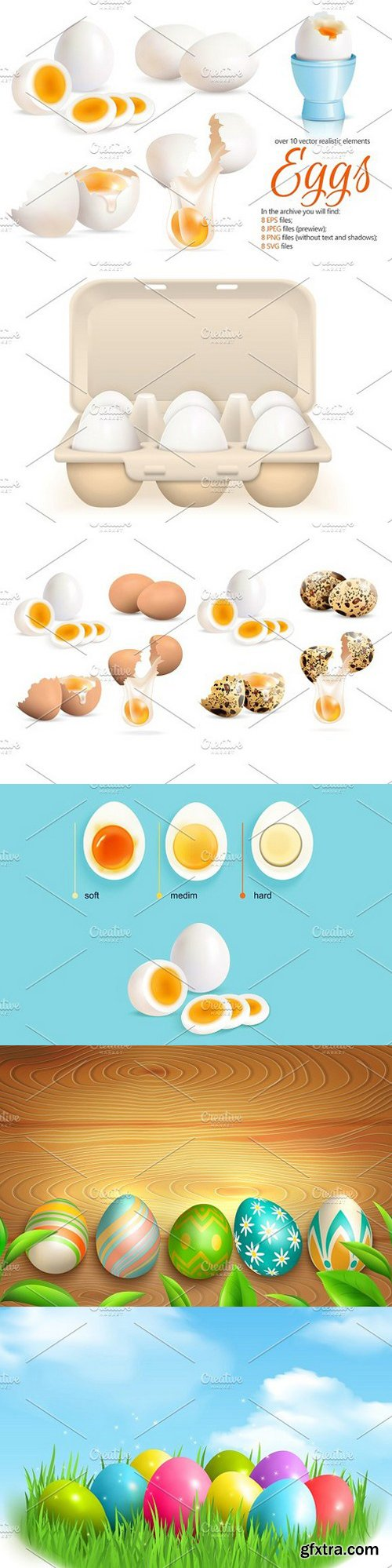 Eggs Realistic Set