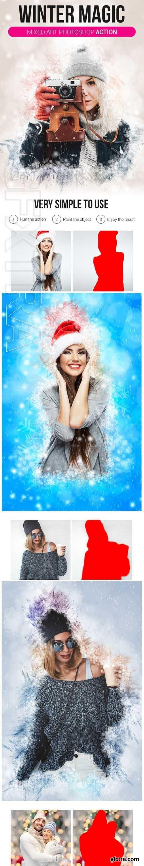 GraphicRiver - Winter Magic Mixed Art Photoshop Action 21156130