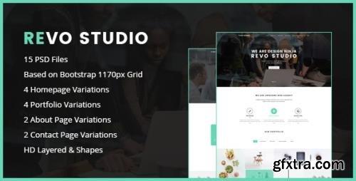 ThemeForest - Revo Studio v1.0 - One Page PSD Template - 15296283