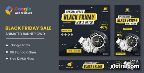 CodeCanyon - Watch Banner Set Black Friday HTML5 Banner Ads GWD v1.0 - 33791782