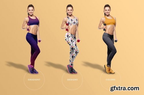 CreativeMarket - Female Fitness Outfit Mockup 4277495