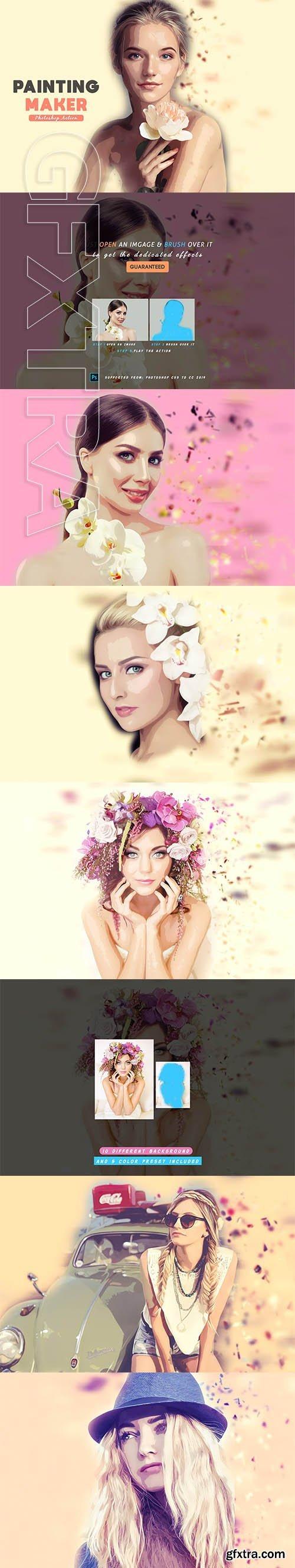 CreativeMarket - Painting Maker Photoshop Action 3999758