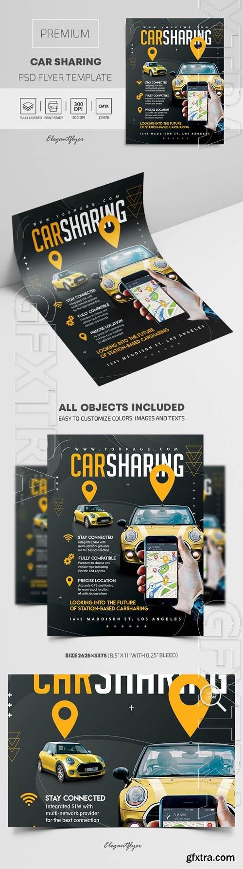 Car Sharing Premium PSD Flyer Template