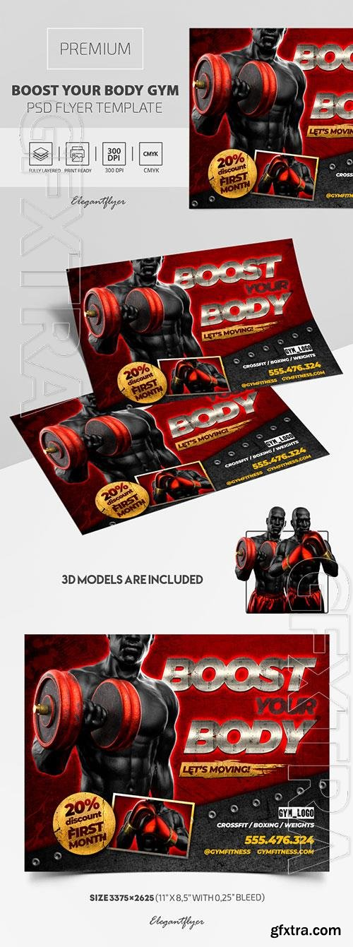 Boost Your Body GYM Premium PSD Flyer Template
