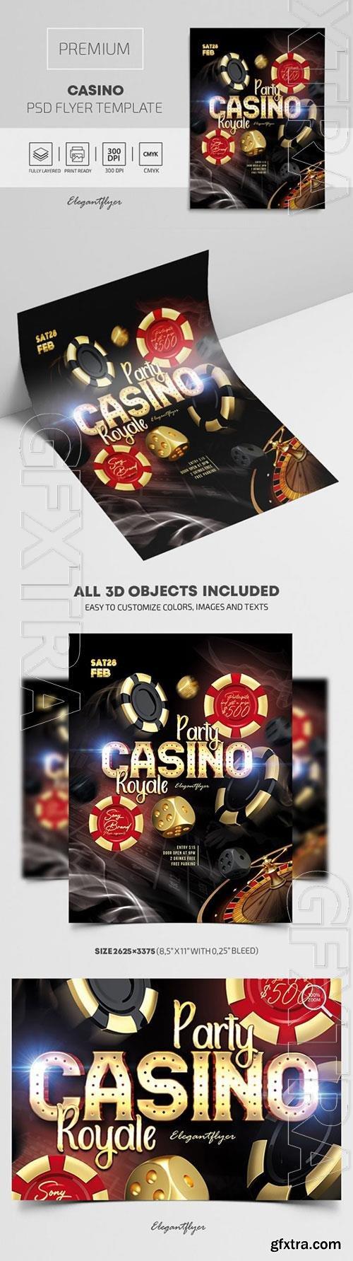 Casino Premium PSD Flyer Template