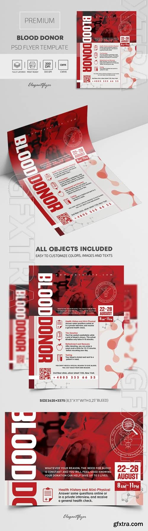 Blood Donor Premium PSD Flyer Template