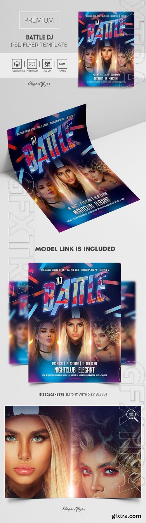 Battle DJ Premium PSD Flyer Template