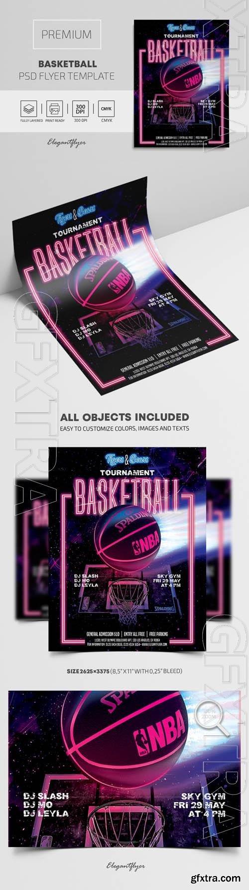 Basketball Premium PSD Flyer Template