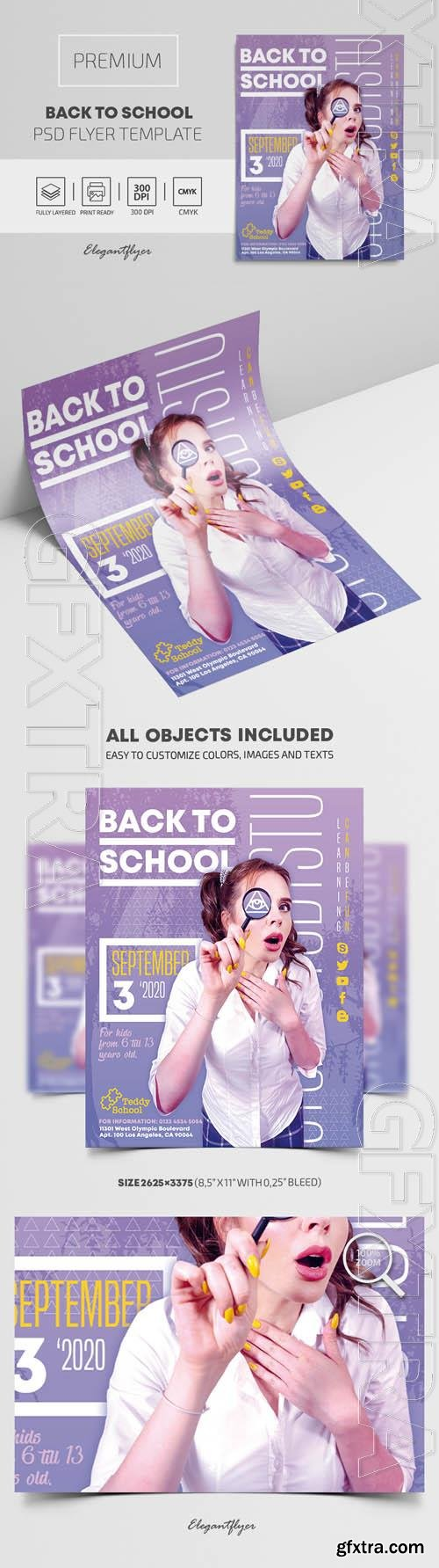Back to School Premium PSD Flyer Template