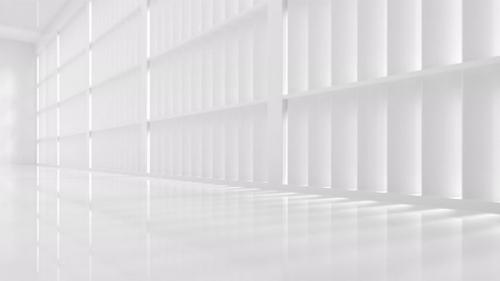 Videohive - Go forward in the white empty room - 33812833 - 33812833