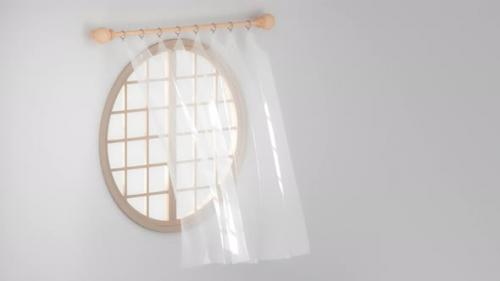 Videohive - Loop animation of the blowing curtain - 33812834 - 33812834