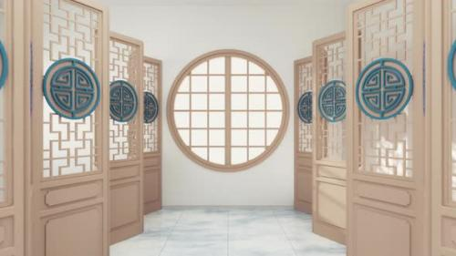 Videohive - Pass through the window of Chinese style room - 33812847 - 33812847