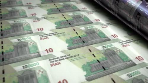 Videohive - Iranian Rial money banknotes printing seamless loop - 33823666 - 33823666