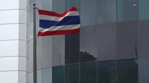Videohive - Thailand Flag Background 4K - 33824665 - 33824665