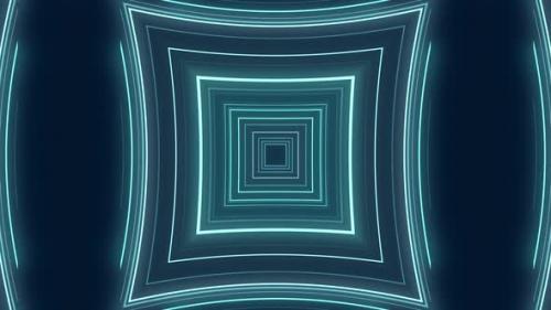 Videohive - Blue Digital Sci Fi Tunnel Background - 33830506 - 33830506