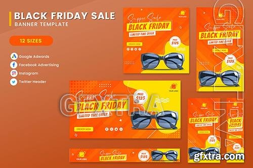 Black Friday Sale Product Banner Set Template NGHDP83
