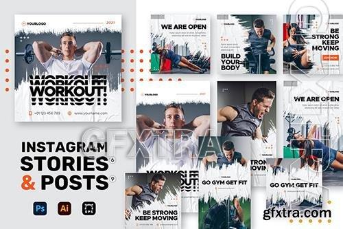 Gym Instagram Stories + Posts 773SX4D