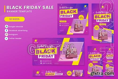 Black Friday Sale Product Banner Set Template ZGG88G4