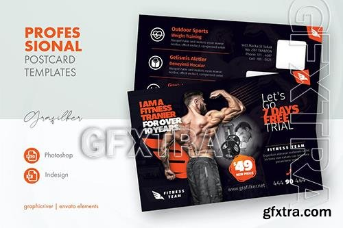 Fitness Time Postcard Templates YLQ2D83