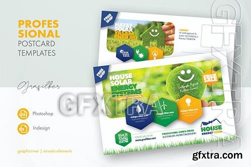 Solar Energy Postcard Templates GMHJDAQ