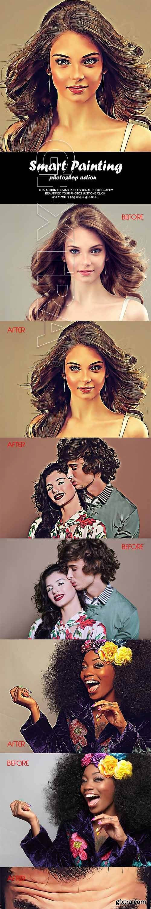 GraphicRiver - Smart Painting Photoshop Action 21139558