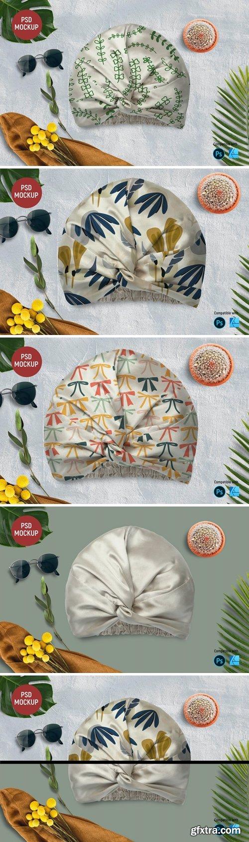 Silk Turban Mockup