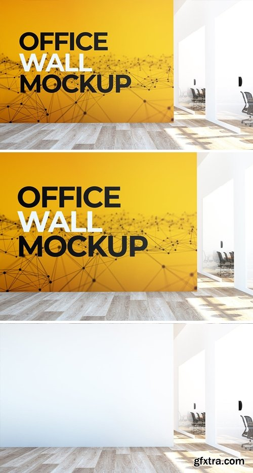 Office Wall Mural Mock Up