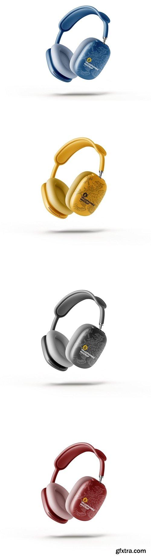 Headphones Mockup. Half Side View