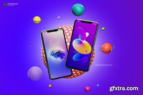 Iphone X Template - Smartphone Mockup