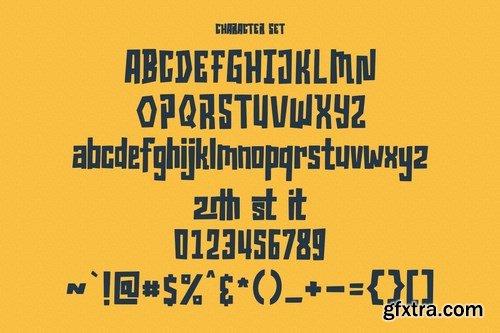 Grimblocks Display Font