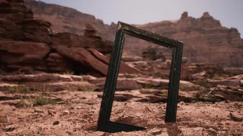 Videohive - Very Old Wooden Frame in Grand Canyon - 33829678 - 33829678
