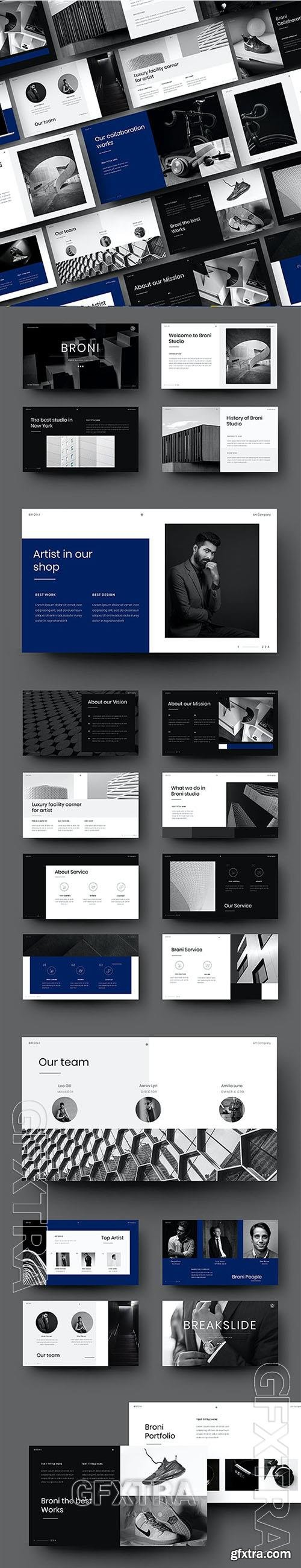 Broni - Business Powerpoint, Keynote and Google Slides Template