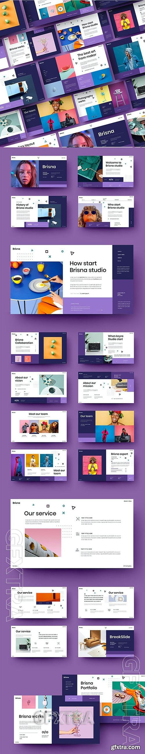 Brisna - Business Powerpoint, Keynote and Google Slides Template
