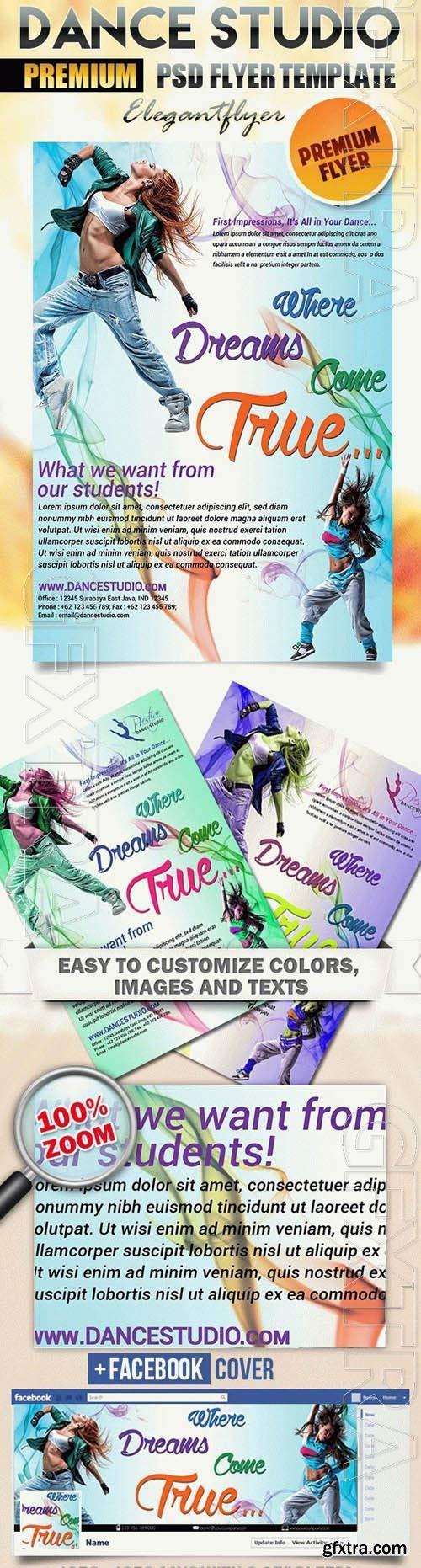 Dance Studio Flyer PSD Template