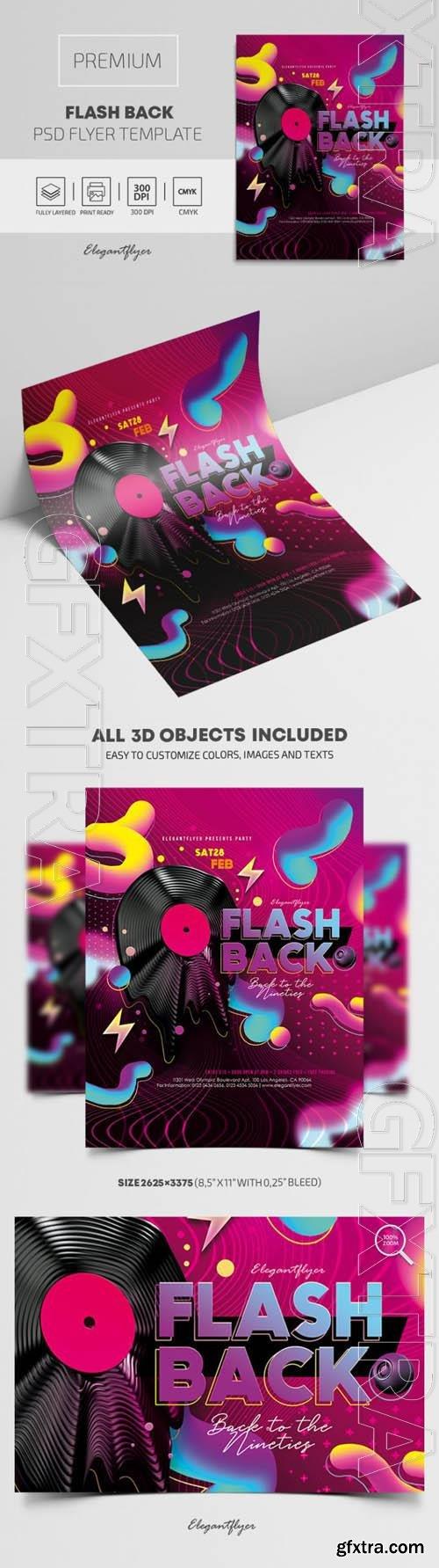 Flash Back Premium PSD Flyer Template