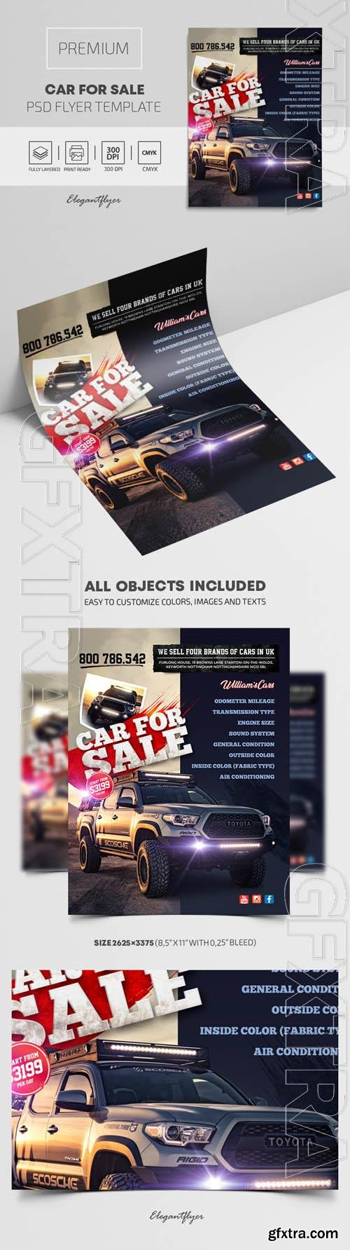 Car For Sale Premium PSD Flyer Template