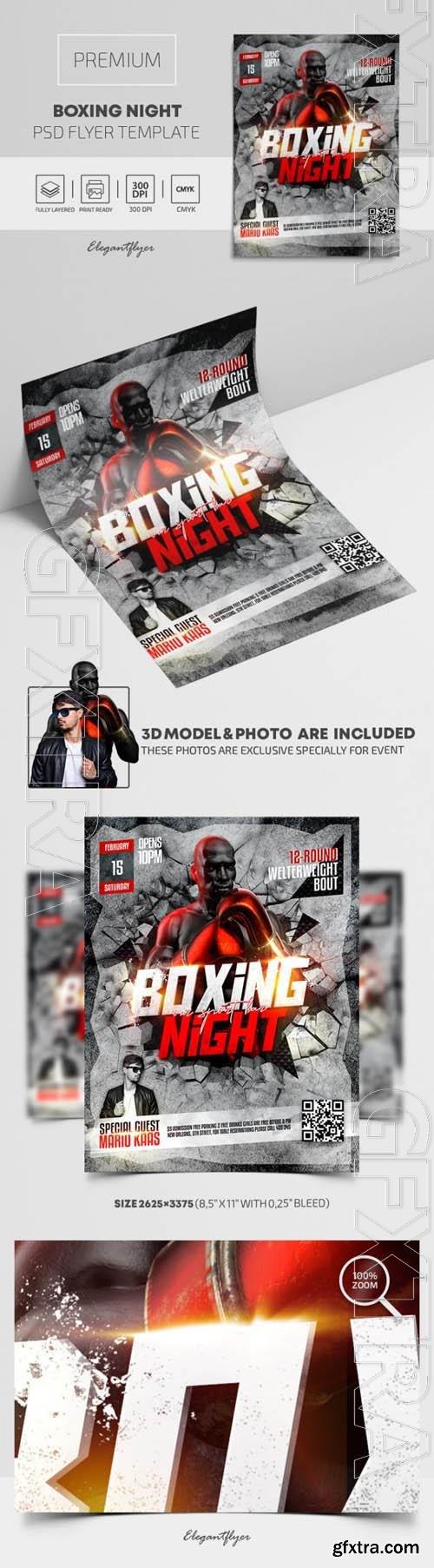 Boxing Night Premium PSD Flyer Template vol 2