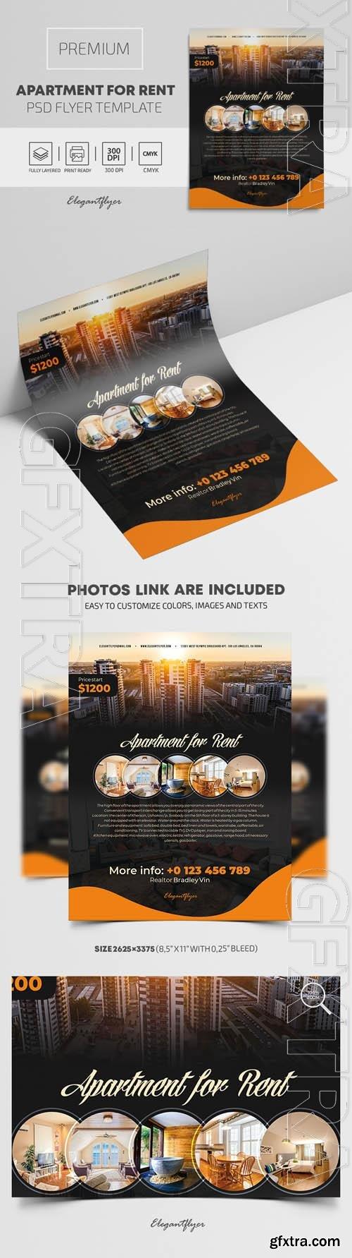 Apartment For Rent Premium PSD Flyer Template