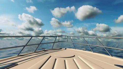 Videohive - Travel on a yacht on the waves of the sea in summer - 33839020 - 33839020