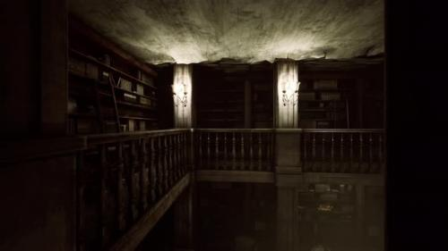 Videohive - Old Dark Classical Library Room - 33840483 - 33840483