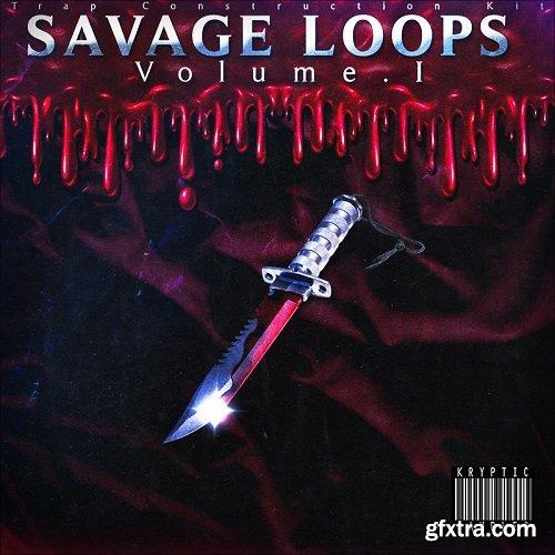 Kryptic Samples Savage Loops Volume 1 WAV MiDi