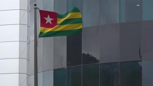 Videohive - Togo Flag Background 4K - 33842312 - 33842312