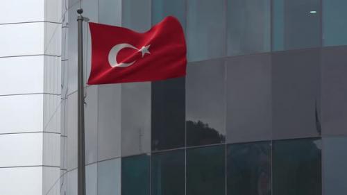 Videohive - Turkey Flag Background 4K - 33842323 - 33842323