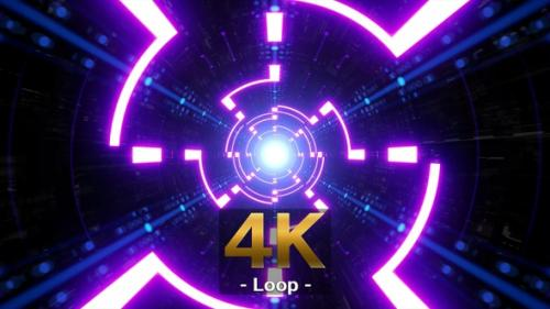 Videohive - Purple Spin Light Neon Tunnel - 33845641 - 33845641
