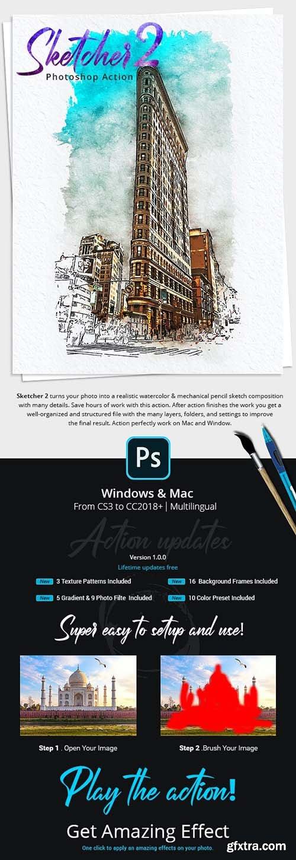 GraphicRiver - Sketcher 2 Photoshop Action 33112835
